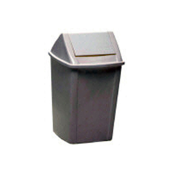27lt Swing Top Tidy Bin White