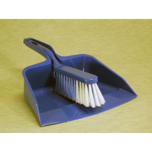 Colour Coded Plastic Dustpan & Brush Sets