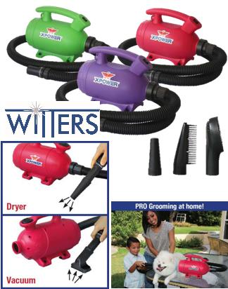 2 in 1 Home Pet Dryer & Vacuum - 100CFM - 1000Watt/4.4Amp - 2 Speed Swith - 1.5mt Cord & Hose