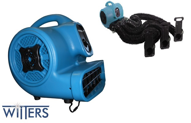 Multipurpose Utility Air Mover - 1/2 HP - 350W - 2.2A - Stackable