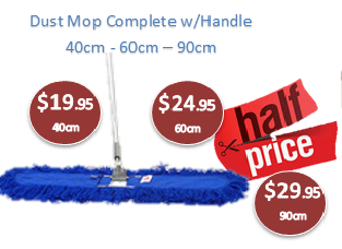 Blue Dust Control Mops - Clearance