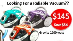 Gravity 2200 watt Bagless Vacuum Cleaner