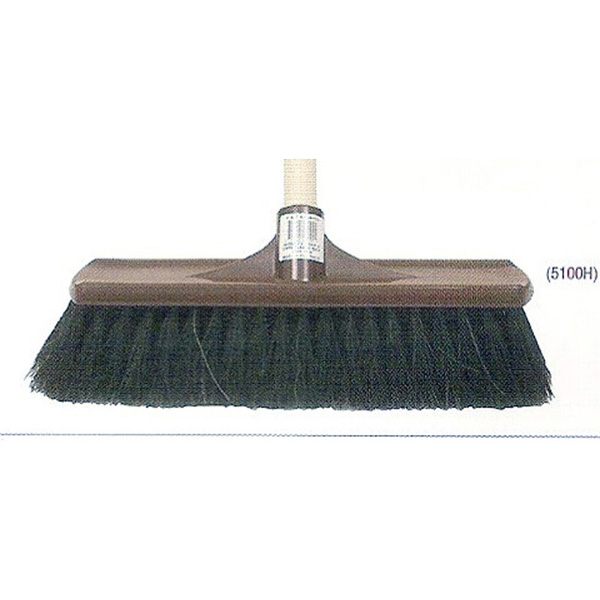Hair & Fibre Plastic Backed Broom complete with handle