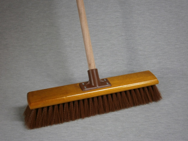 Synthetic Hard Centre Broom Economy complete with handle