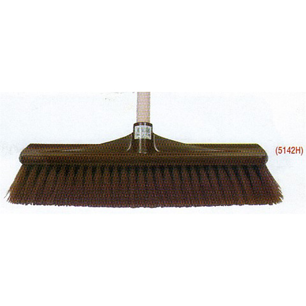 Synthetic Hard Centre Plastic Back Broom complete with handle