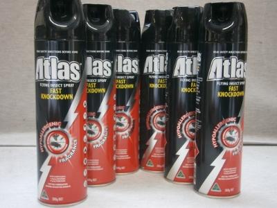 Atlas Fly Spray 300g x 6 cans