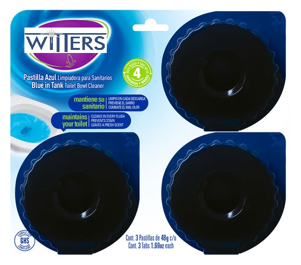 Blue In Tank Toilet Bowl Cleaner Tablets - 3 pack/36 ctn