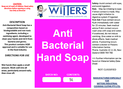 Anit Bacterial Liquid Hand Soap