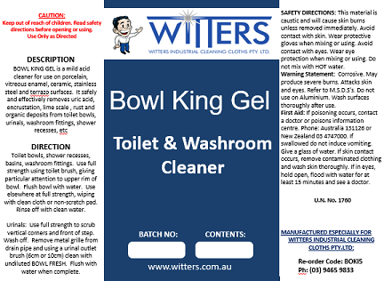 Bowl King - Gel Based Toilet Bowl Cleaner