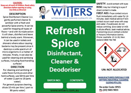 Refresh - Spice Pine Disinfectant- Deodoriser andSanitiser