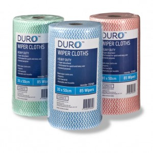 Duro Wipes 30cm x 50cm Heavy Duty Wiper Rolls
