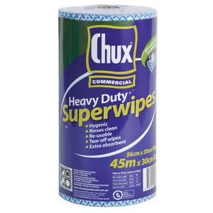 Heavy Duty Chux Wipers 9305 30cm x 45m perforated roll.