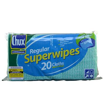 Chux 9886 Superwipes Green 60cm x 45cm p/20 x 12pkts