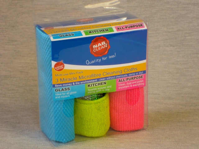 3 Pack Miracle Micro Fibre Cloths