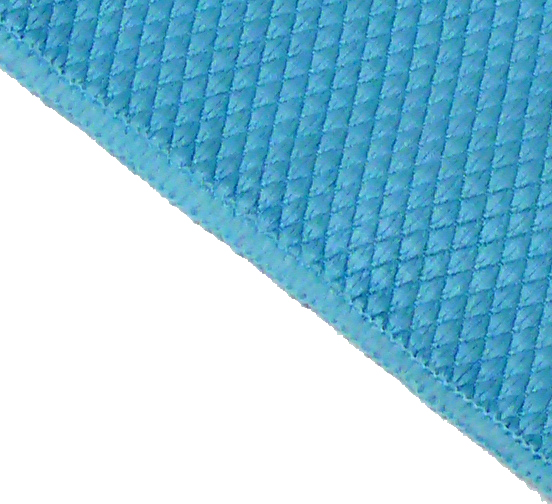 Diamond Weave Micro Fibre Glass & MIrror Cloth Blue