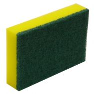 Green & Yellow Sponge/Scourer - Small 10cm x 7.5cm