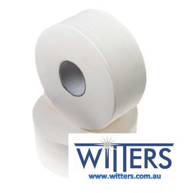 Green Recycled Jumbo Toilet Rolls 2ply x 300mt x 8 rolls - CP300CR
