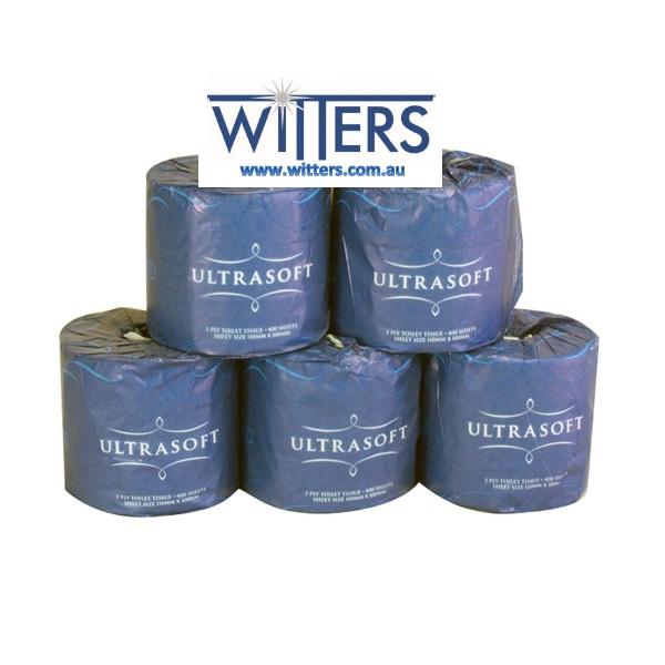 Ultrasoft Toilet Paper 400 sheet 2 ply x 48 rolls per carton - CP-400CW