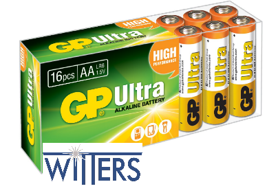 AA Powercell Batteries - 16 Pack
