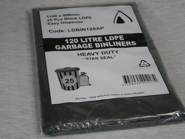 Garbage Bags 120lt - 100 bags