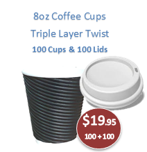 Rippled Cappuccino Cups - Triple Wall