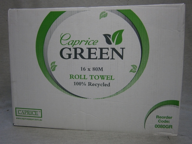 Green Roll Towel - 100% Recycled Paper Towel