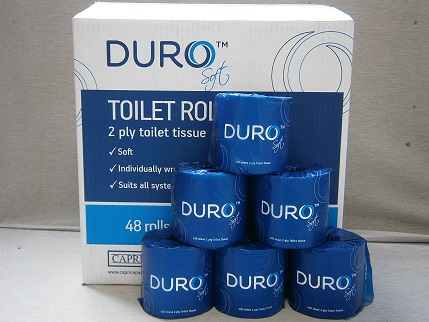 Duro Soft Toilet Paper - 2 Ply 400 sheet - 48 rolls