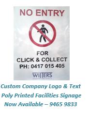 Custom Printed Facilities Signs with Company Logo