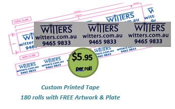 Custom Printed Packaging Tape - Single Colour Print