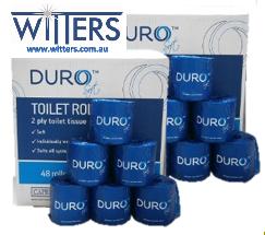 Duro Toilet Paper - 2 Ply 400 sheet - 48 rolls per carton CP-400V