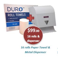 Paper Towel & Metal Dispenser - Nov 2020 Special