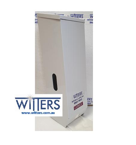 Toilet Roll Dispenser - 3 Roll - White Metal