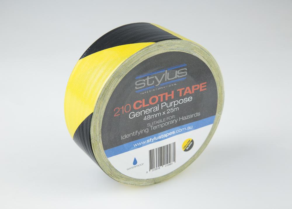 Line Marking Tape - Black & Yellow
