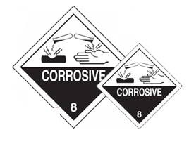 Corrosive 8 Labels