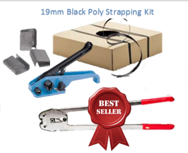 Starter Pack - 19mm Black Heavy Duty Strapping & Accessories