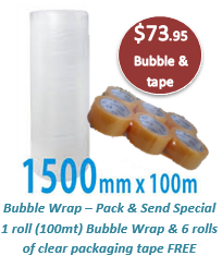 Bubble Wrap & 6 pack Tape - Pack & Send Special