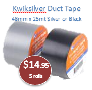 Duct Tape Black 48mm x 25mt
