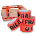 Fragile Tape 48mm x 66mt Black/Orange