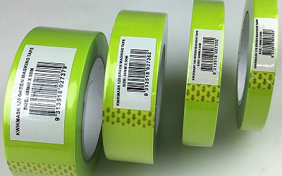 18mm Green UV Washi Masking Tape -Kwikmask120