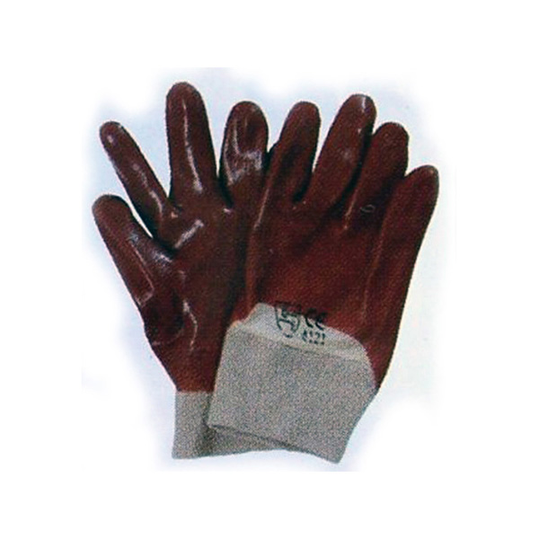 Men's Red PVC Knit Wrist Gloves
