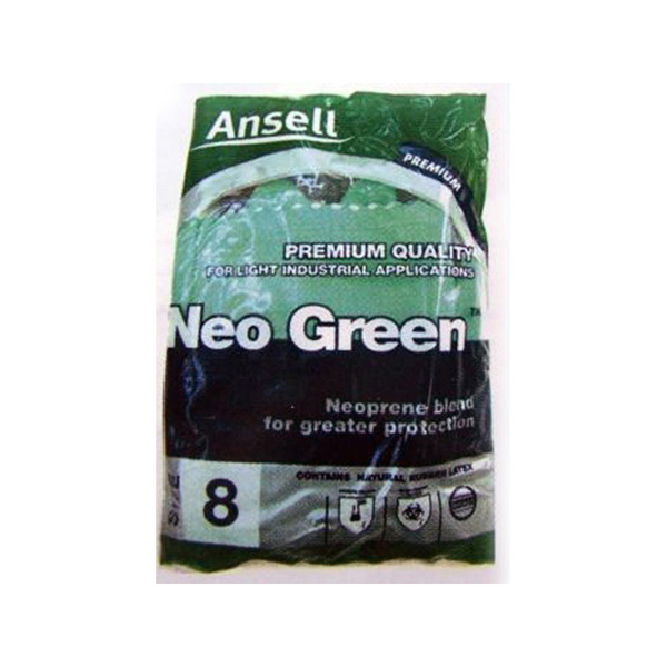 Ansell Neo Green Flocklined Gloves 12 pair