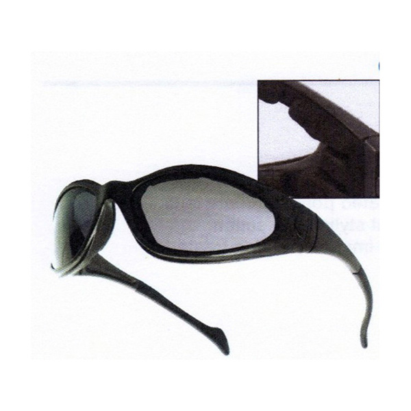 Smoke Hawk Safety Glasses with foam seal - 12 pair