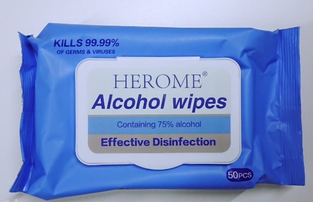 Herome Alcohol Wipes - 50 Pack
