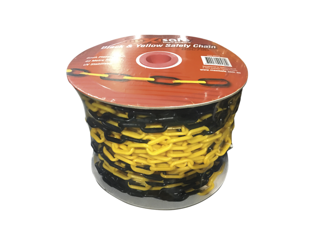 Black & Yellow Safety Chain - 40mt