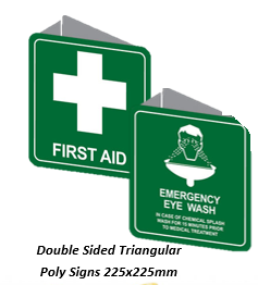 Double Sided Trianugular Poly 225mm - First Aid