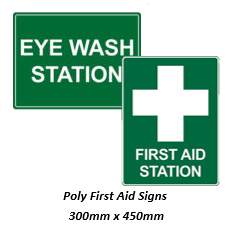 First Aid Sign - 300mm x 450mm Poly