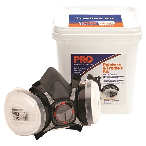 Painter's & Tradies Respiraor Kit in a Storage Bucket