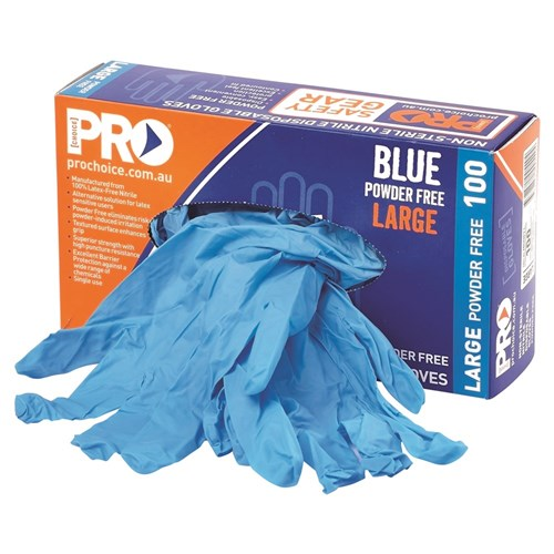 Blue Nitrile Disposable Gloves Powder Free