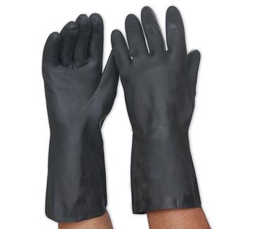 Black Neoprene Chemcial Gauntlets Size 10