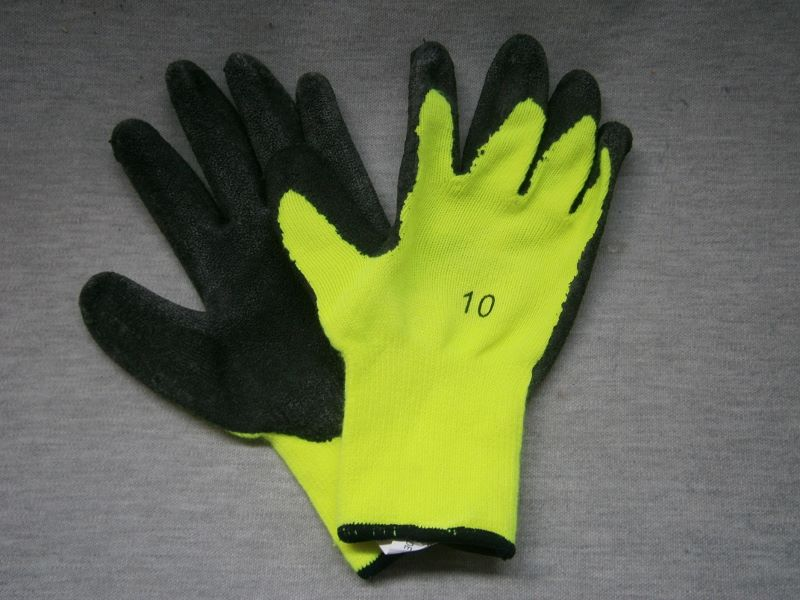 Hi-Vis Grip Gloves black palm with fluro back